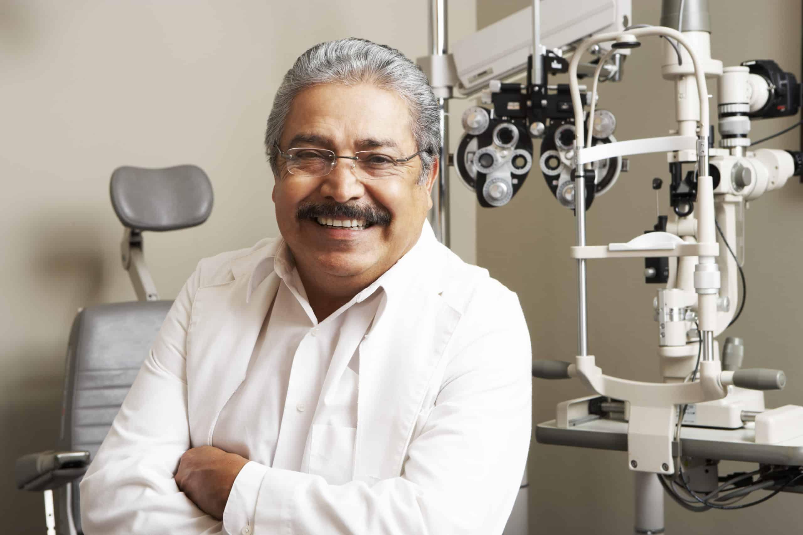An eye clinic professional