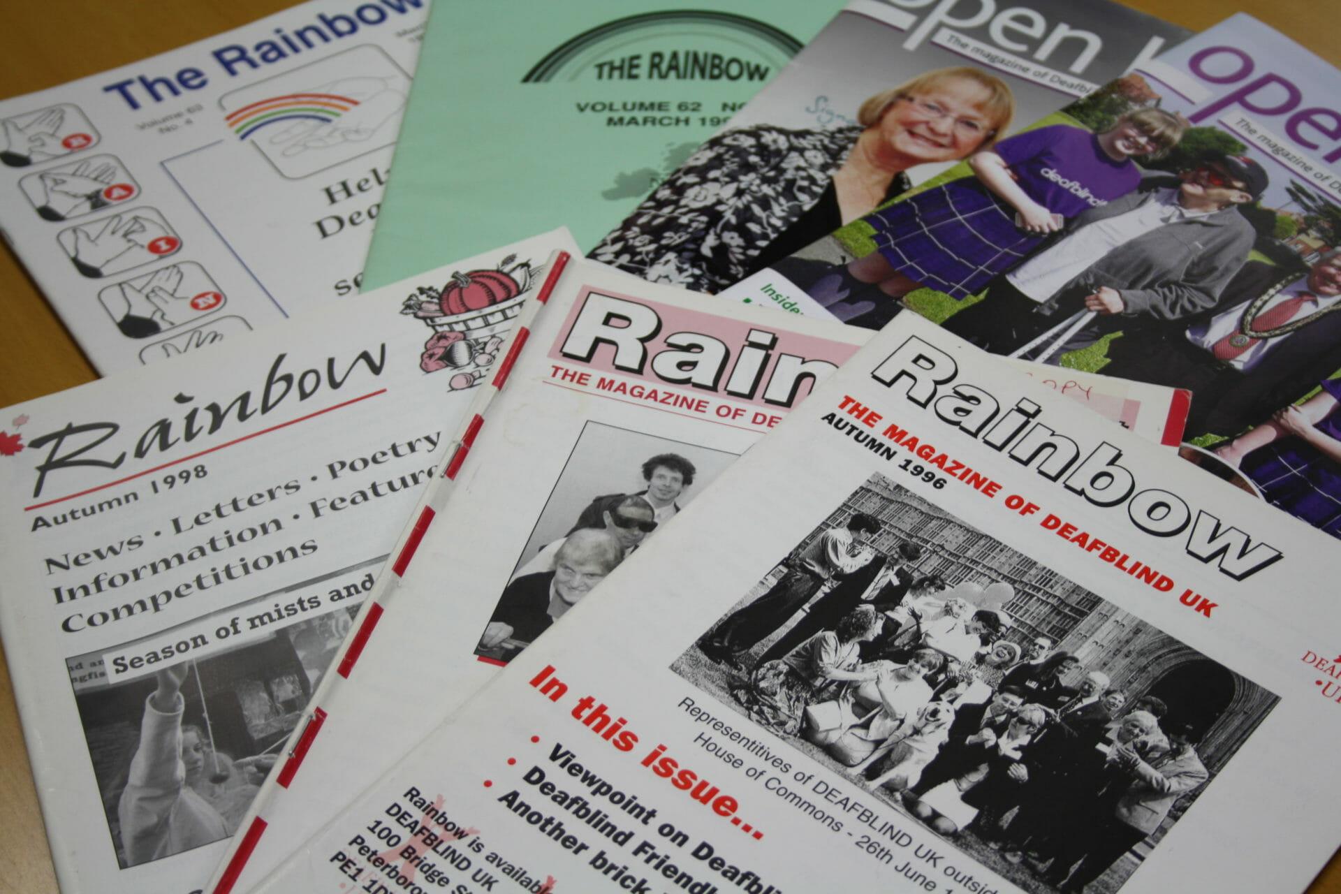 Old copies of Rainbow magazine