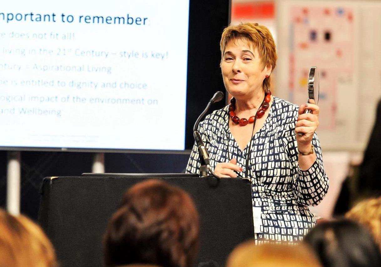 a presentation at Naidex