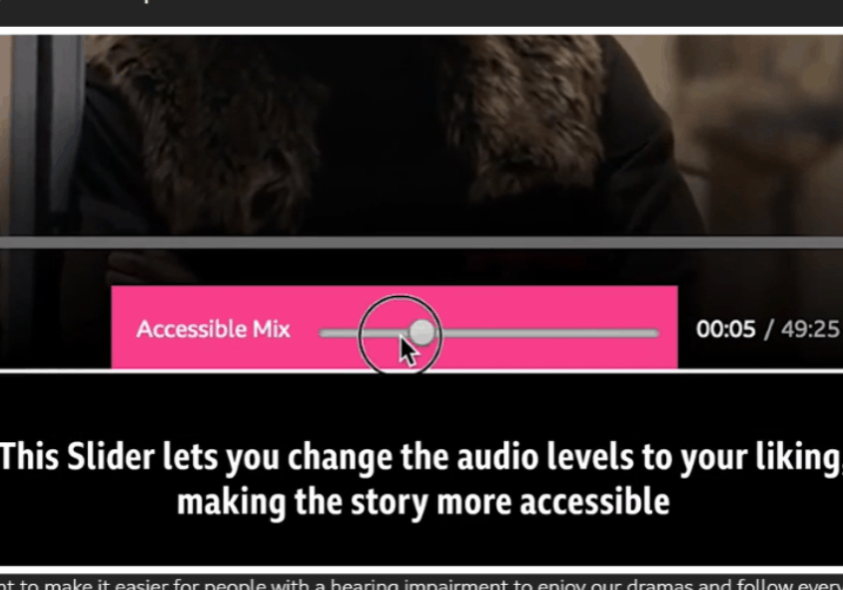 The accessible listening slider