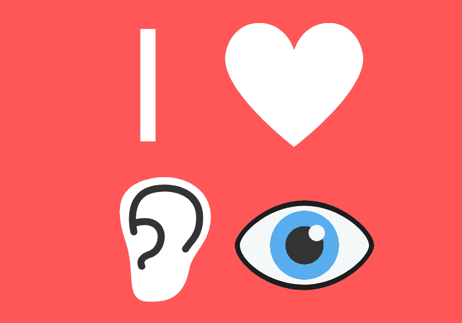 Valentines day - love your eyes and ears